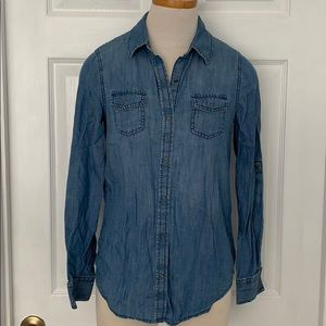 Arizona Jeans & Co Denim/ Chambray Button up- S